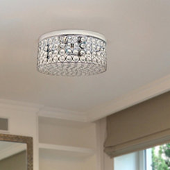 Round Crystal Flush Mount Ceiling Light