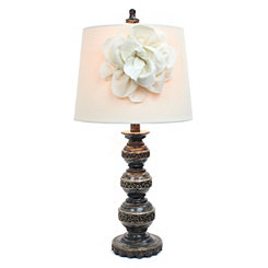 Bronze Stacked Ball Flower Table Lamp