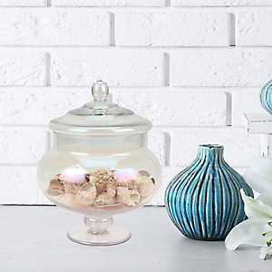 Round Luster Glass Apothecary Jar, 9.5 in.