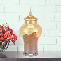Amber Luster Glass Apothecary Jar, 13 in.