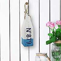 No. 879 Blue Wooden Buoy