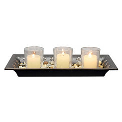 3-Votive Metal Cross Candle Garden
