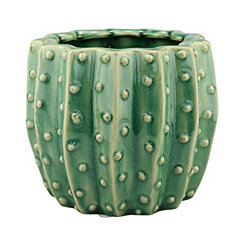 Green Ceramic Cactus Planter