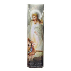 Guardian Angel LED Prayer Candle