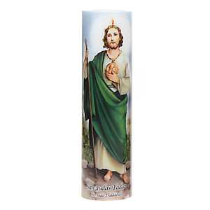 St. Jude LED Prayer Candle
