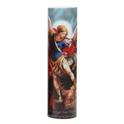 St. Michael the Archangel LED Prayer Candle