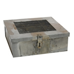Aged Galvanized Metal Box