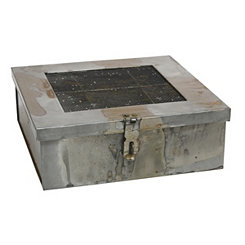 Aged Galvanized Metal Box