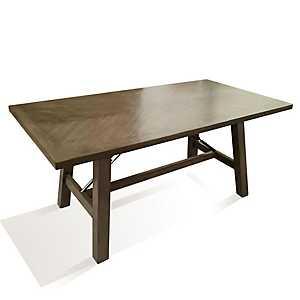 Gray Tone Oak Veneer Dining Table