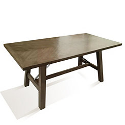 Gray Tone Oak Veneer Dining Table