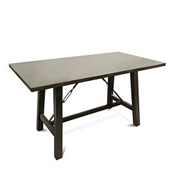 Gray Tone Oak Veneer Counter Height Dining Table