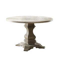 Rustic Weathered Round Dining Table