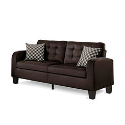 Chocolate Retro Style Sofa
