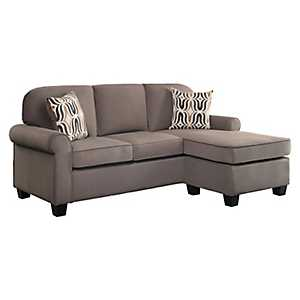 Taupe Reversible Sectional Sofa