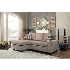 Tan Reversible Sectional Sofa