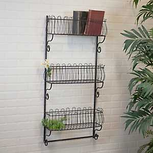 3-Tier Open Metal Wall Shelf