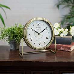 Antique Gold Tabletop Clock