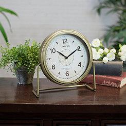 Antique Gold Tabletop Clock