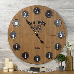 Old Town Type Wall Clock