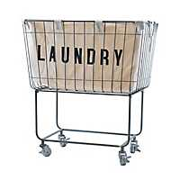 Rolling Metal Laundry Basket