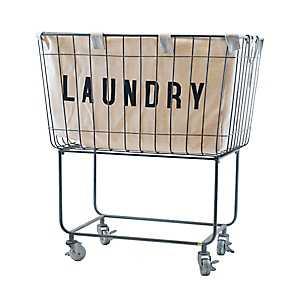 Rolling Metal Laundry Basket