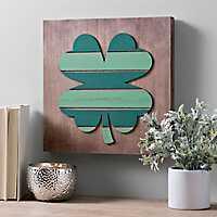 Wood Plank Shamrock Wall Plaque
