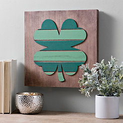 Wood Plank Shamrock Wall Plaque