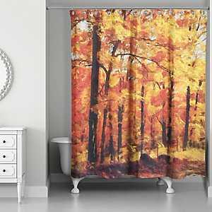 I Love Fall Shower Curtain