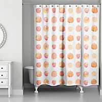 Watercolor Pumpkins Shower Curtain
