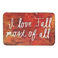 I Love Fall Bath Mat