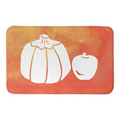 Watercolor Pumpkins Bath Mat