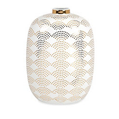 Olivia Gold Scale Vase, 18 in.