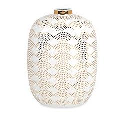 Olivia Gold Scale Vase, 18 in.