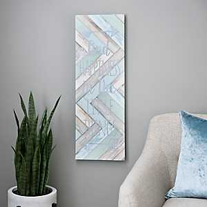 Find Happiness Soft Blue Canvas Art Print