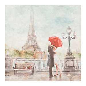 Red Umbrella Eiffel Tower Canvas Art Print