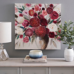Floral Rose Bouquet Canvas Art Print