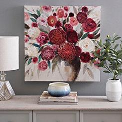 Floral Rose Bouquet Canvas Art Print