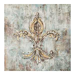 Metallic Fleur-de-Lis Canvas Art Print