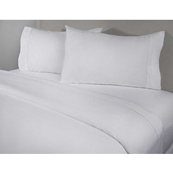 White 4-pc. Cotton Full Sheet Set