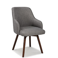 Ash Mid-Century Swivel Accent Chairs, Set of 2