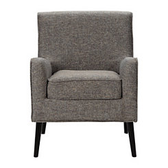 Gray Lexi Mid-Century Accent Chair