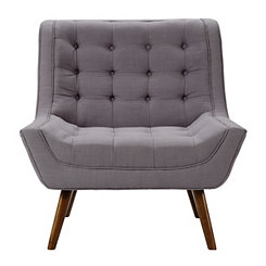 Stone Mid-Century Modern Accent Chair