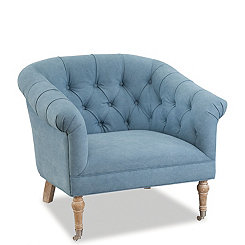 Bluebell Tufted Denim Accent Chair