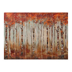 Maple Grove Forest Slatted Wood Art Print