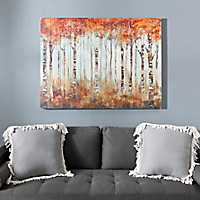 Maple Grove Forest Slatted Wood Art Print