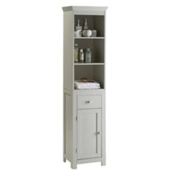 Lucas Vanilla Cappuccino Tower Storage Cabinet
