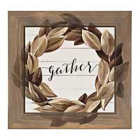 Gather Magnolia Wreath Framed Art Print