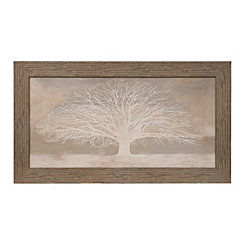 Neutral Tree of Life Framed Art Print