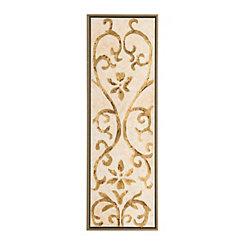 Gold Filigree I Detailed Framed Canvas Panel