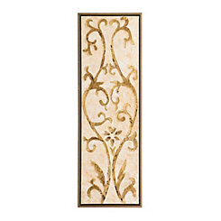Gold Filigree II Detailed Framed Canvas Panel